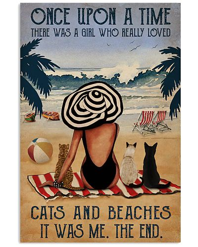 Vintage Beach Once Upon A Time Cats Girl