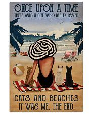 Vintage Beach Once Upon A Time Cats Girl 16x24 Poster front
