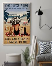 Vintage Beach Once Upon A Time Cats Girl 16x24 Poster lifestyle-poster-1