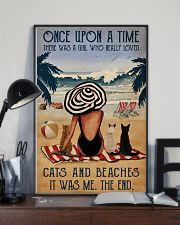Vintage Beach Once Upon A Time Cats Girl 16x24 Poster lifestyle-poster-2