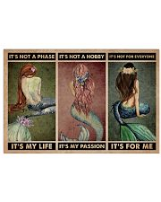 Mermaid It's Not A Phase 24x16 Poster front