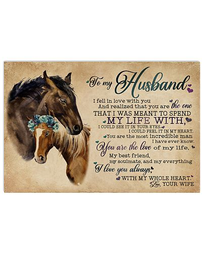 To My Husband I Fell In Love Horse