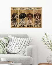 German Shorthaired Pointer If You Feel Sad 24x16 Poster poster-landscape-24x16-lifestyle-01