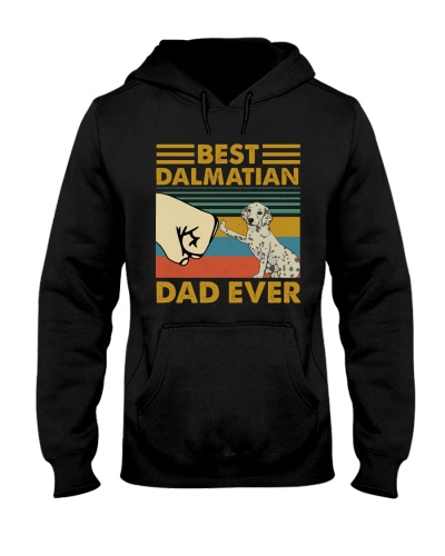 Retro Blue Best Dalmatian Dad Ever