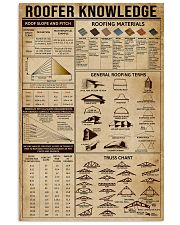 Roofer Knowledge 16x24 Poster front