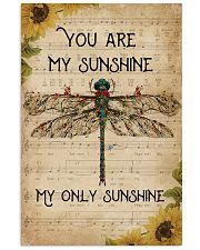 Music Sheet You Are My Sunshine Dragonfly 11x17 Poster front
