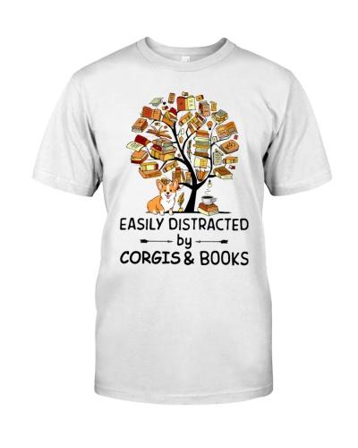 Easily Distracted Tree Book And Corgi