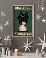 Retro Green Who Loves Black Cat 11x17 Poster lifestyle-holiday-poster-1