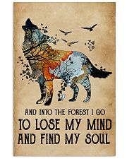Blue Earth Lose My Soul Wolf 11x17 Poster front