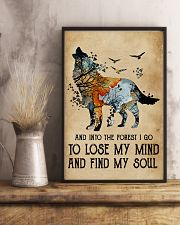 Blue Earth Lose My Soul Wolf 11x17 Poster lifestyle-poster-3