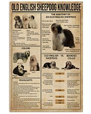 Old English Sheepdog Knowledge 11x17 Poster front