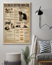 Old English Sheepdog Knowledge 11x17 Poster lifestyle-poster-1