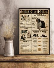 Old English Sheepdog Knowledge 11x17 Poster lifestyle-poster-3