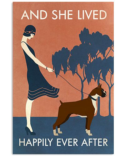 Vintage Girl She Lived Happily Boxer