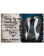 Personalize Penguin A Little Bit Of 24x16 Poster front