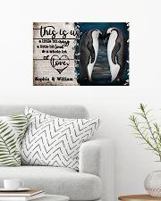 Personalize Penguin A Little Bit Of 24x16 Poster poster-landscape-24x16-lifestyle-01