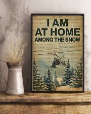 I Am At Home Among The Snow Skiing 16x24 Poster lifestyle-poster-3
