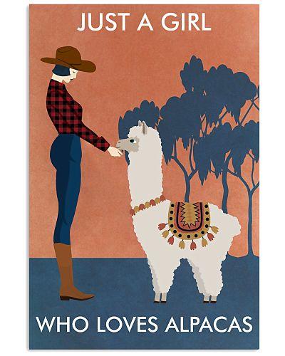 Vintage Girl Who Loves Alpaca