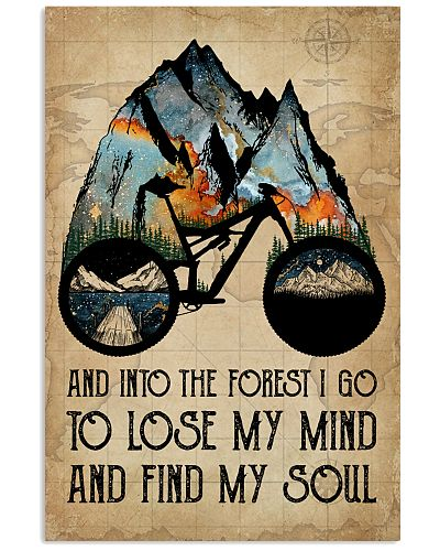 Watercolor Bike And Into The Forest I Go