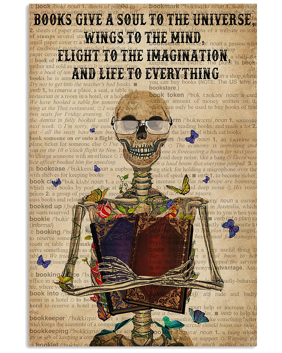 Dictionary Life To Everything Reading Skeleton 11x17 Poster