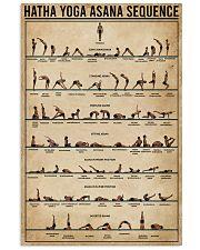 Hatha Yoga Asana Sequence 16x24 Poster front