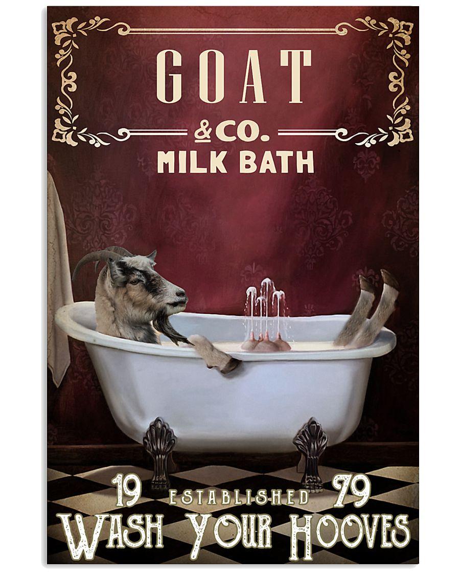 Red Milk Bath Goat 11x17 Poster