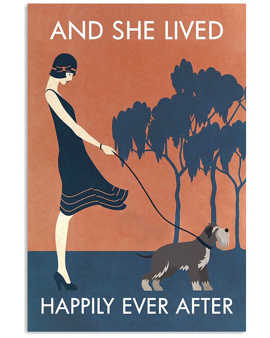 Vintage Girl She Lived Happily Miniature 11x17 Poster