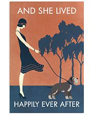 Vintage Girl She Lived Happily Miniature 11x17 Poster front