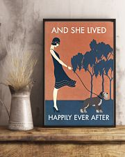 Vintage Girl She Lived Happily Miniature 11x17 Poster lifestyle-poster-3