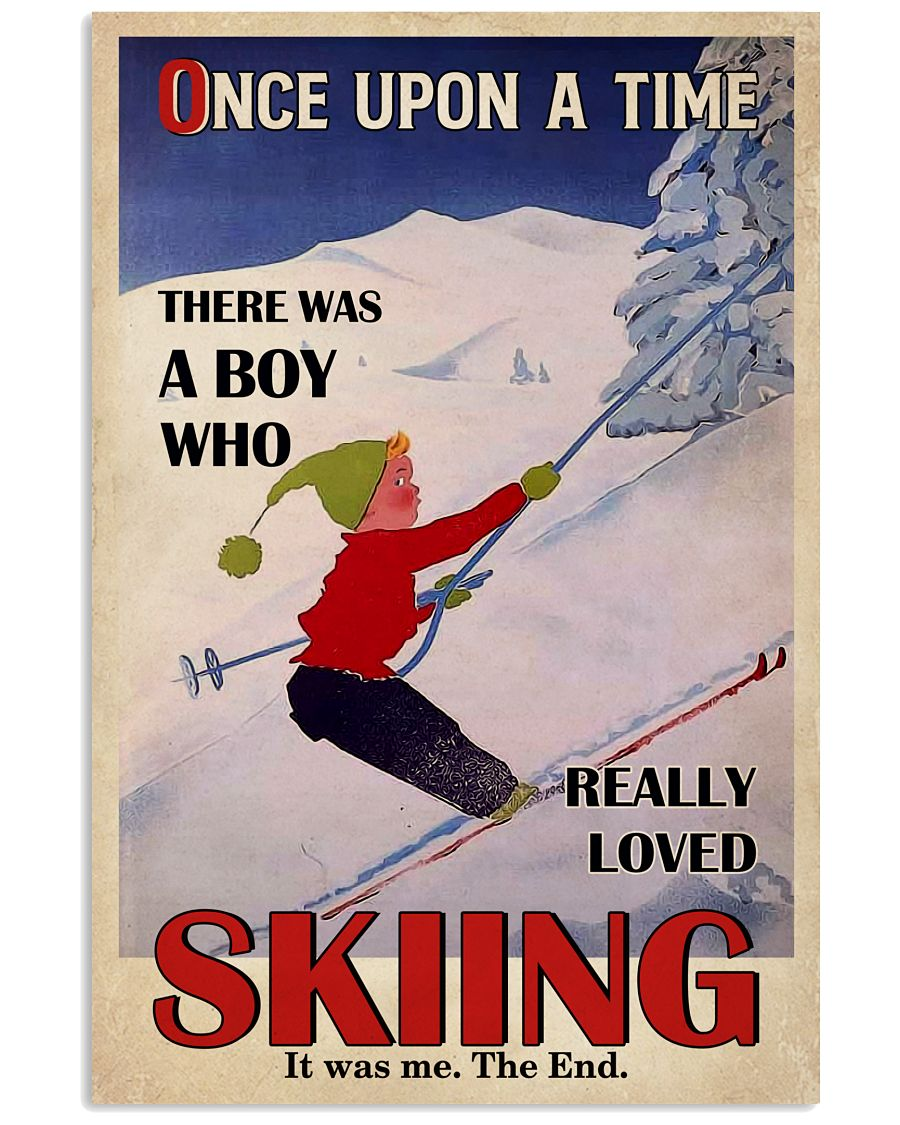Once Upon A Time Skiing 16x24 Poster