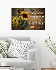 You Can Be Anything Be Kind Butterfly 24x16 Poster poster-landscape-24x16-lifestyle-01