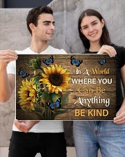You Can Be Anything Be Kind Butterfly 24x16 Poster poster-landscape-24x16-lifestyle-21
