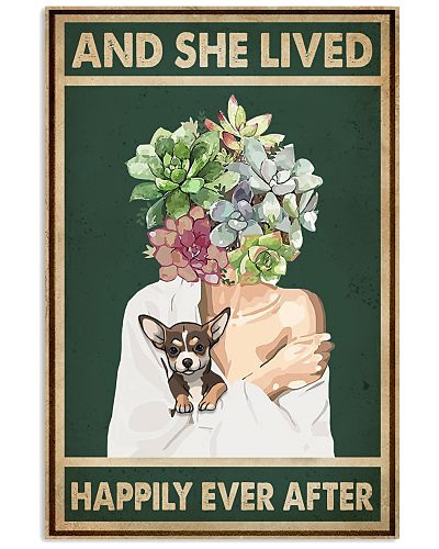 She Lived Happily Chihuahua Succulents