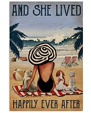 Vintage Beach Lived Happily Dogs Girl 11x17 Poster front