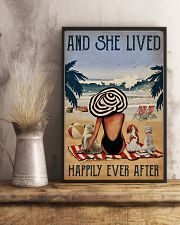 Vintage Beach Lived Happily Dogs Girl 11x17 Poster lifestyle-poster-3