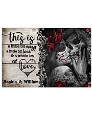 Personalize Skeleton A Little Bit Of 24x16 Poster front