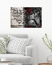 Personalize Skeleton A Little Bit Of 24x16 Poster poster-landscape-24x16-lifestyle-01