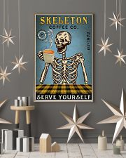 Vintage Coffee Company Skeleton 11x17 Poster lifestyle-holiday-poster-1