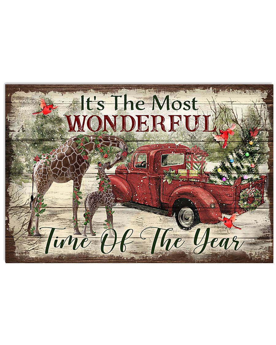 It's The Most Wonderful Time Of The Year Giraffe 24x16 Poster