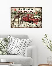 It's The Most Wonderful Time Of The Year Giraffe 24x16 Poster poster-landscape-24x16-lifestyle-01
