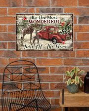 It's The Most Wonderful Time Of The Year Giraffe 24x16 Poster poster-landscape-24x16-lifestyle-24