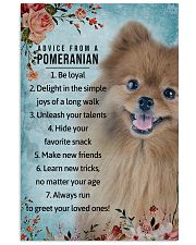 Advice From A Pomeranian 11x17 Poster front
