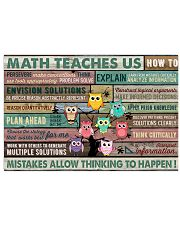 Colorful Pallet Owl Math Teaches Us 24x16 Poster front