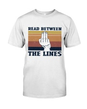 Retro Navy Read Between The Lines - On Sale Classic T-Shirt front
