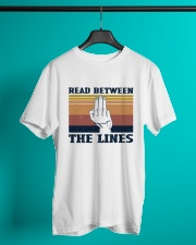 Retro Navy Read Between The Lines - On Sale Classic T-Shirt lifestyle-mens-crewneck-front-3