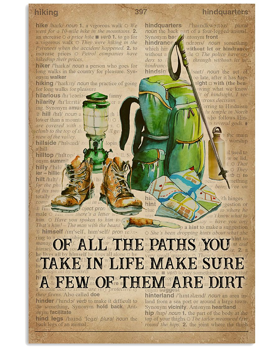 Dictionary Make Some Dirt Hiking 11x17 Poster