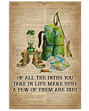 Dictionary Make Some Dirt Hiking 11x17 Poster front