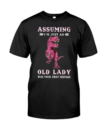 Assuming Old Lady Dinosaur
