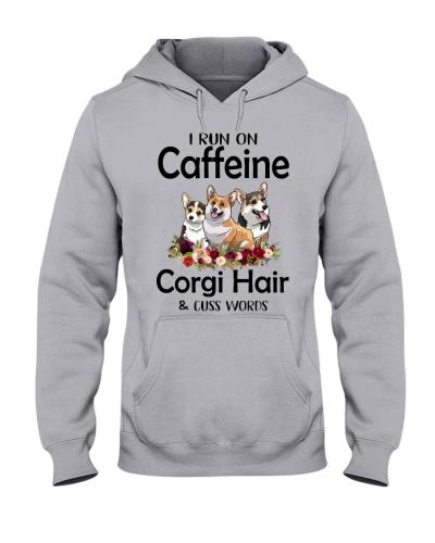 I Run On Caffeine Dog Hair Cuss Word Corgi