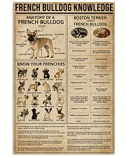Knowledge French Bulldog 11x17 Poster front